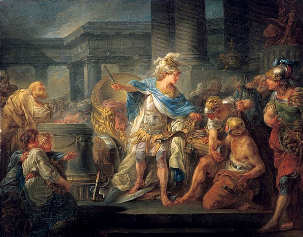 614px-Alexander_cuts_the_Gordian_Knot
