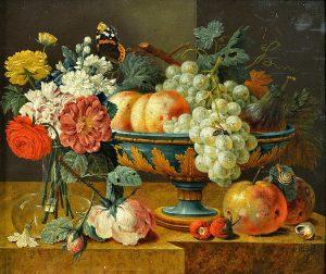 Jan Davidszoon de Heem - Fruit bowl with flowers, first half of 17th century